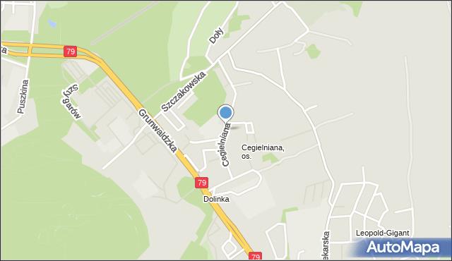 Jaworzno, Cegielniana, mapa Jaworzno