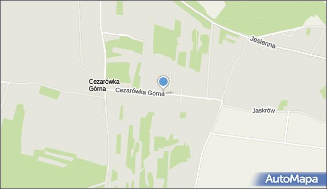 Jaworzno, Cezarówka Górna, mapa Jaworzno