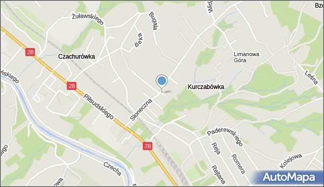 Limanowa, Ceglarza Stanisława, mapa Limanowa