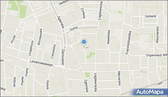 Łódź, Ceglana, mapa Łodzi