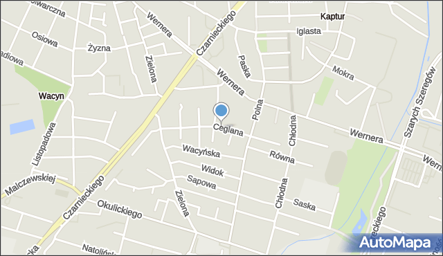 Radom, Ceglana, mapa Radomia