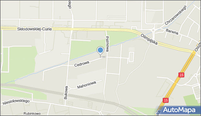 Toruń, Cedrowa, mapa Torunia