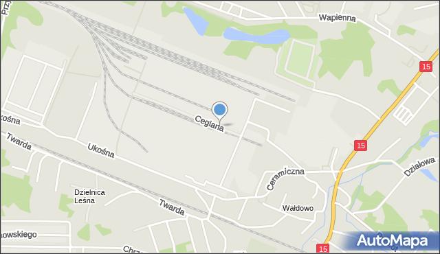 Toruń, Ceglana, mapa Torunia