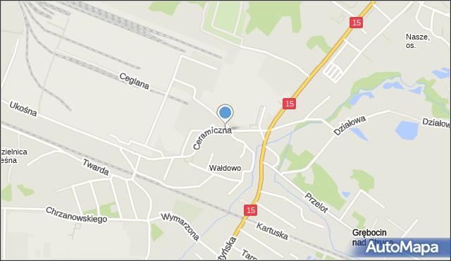 Toruń, Ceramiczna, mapa Torunia