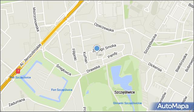 Warszawa, Cesarskiej Korony, mapa Warszawy