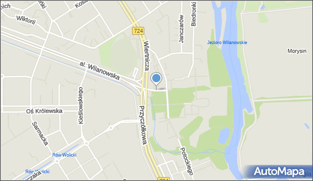 Warszawa, Cendrowskiego Stefana, mapa Warszawy