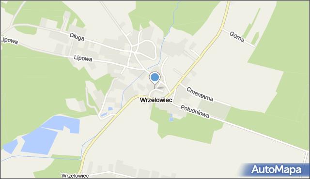 Wrzelowiec, Centralna, mapa Wrzelowiec