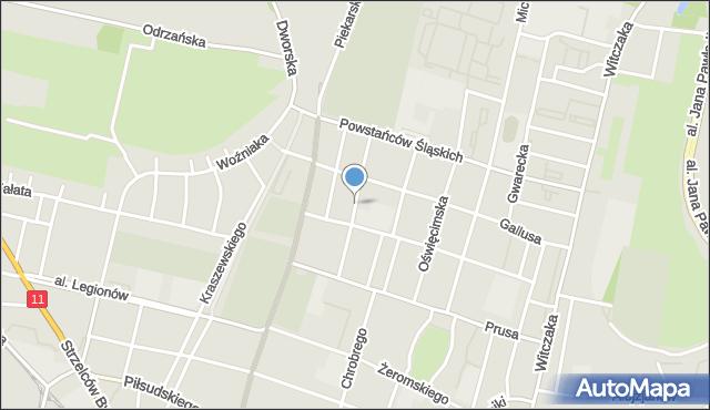 Bytom, Chełmońskiego Józefa, mapa Bytomia