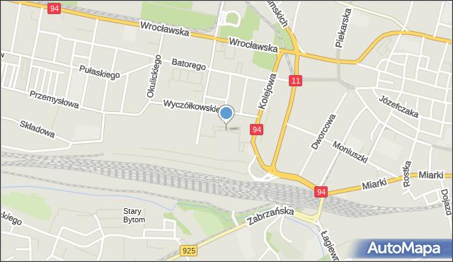 Bytom, Chłodna, mapa Bytomia