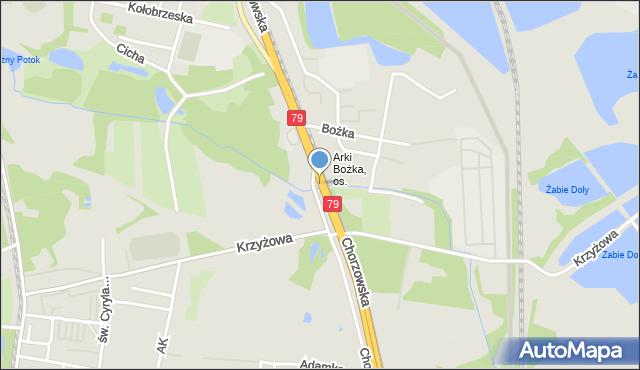 Bytom, Chorzowska, mapa Bytomia