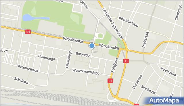 Bytom, Chrzanowskiego Ignacego, mapa Bytomia