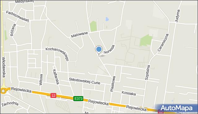 Chełm, Chełmońskiego Józefa, mapa Chełma