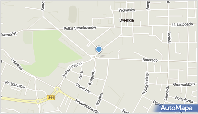 Chełm, Chopina Fryderyka, mapa Chełma