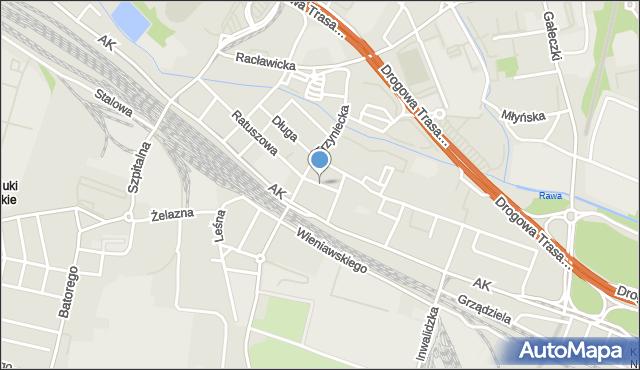 Chorzów, Chocimska, mapa Chorzów