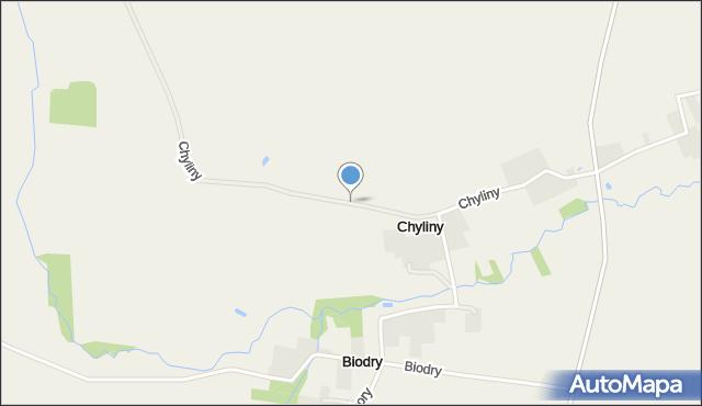 Chyliny gmina Jedwabne, Chyliny, mapa Chyliny gmina Jedwabne