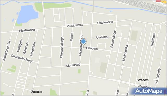 Częstochowa, Chopina Fryderyka, mapa Częstochowy