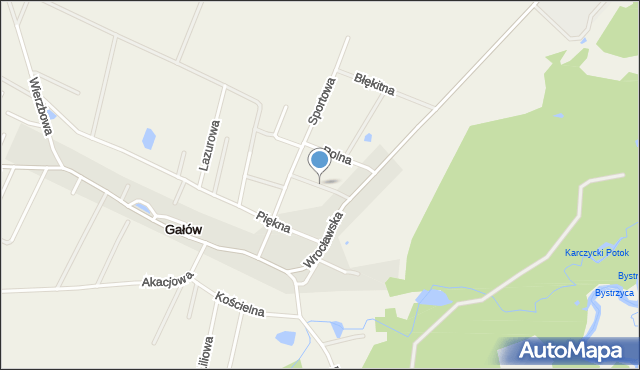 Gałów, Chabrowa, mapa Gałów