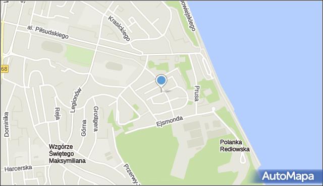 Gdynia, Chopina Fryderyka, mapa Gdyni