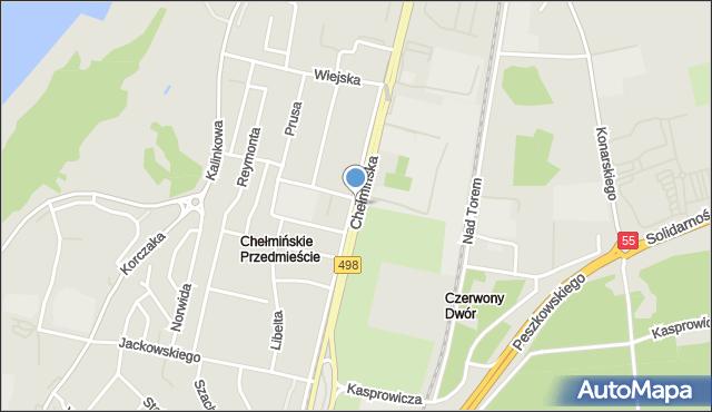Grudziądz, Chełmińska, mapa Grudziądza