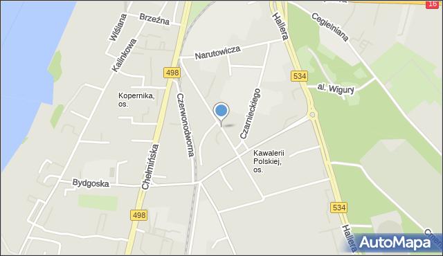 Grudziądz, Chopina Fryderyka, mapa Grudziądza