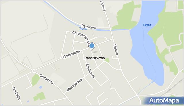 Grudziądz, Chryzantemowa, mapa Grudziądza