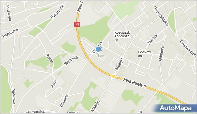 Jaworzno, Chopina Boczna, mapa Jaworzno