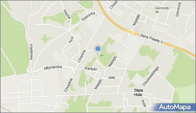 Jaworzno, Chopina Fryderyka, mapa Jaworzno