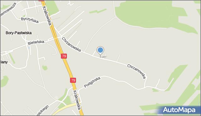 Jaworzno, Chrzanowska, mapa Jaworzno