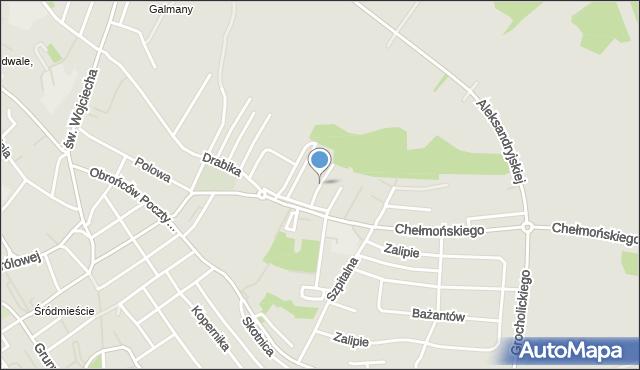 Jaworzno, Chrząstówka, mapa Jaworzno