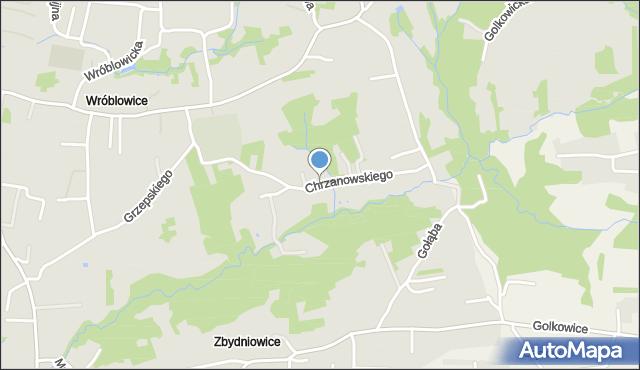 Kraków, Chrzanowskiego Ignacego, mapa Krakowa