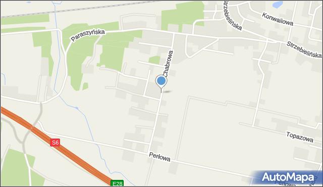 Luzino, Chabrowa, mapa Luzino