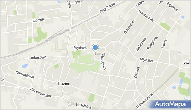 Luzino, Chopina Fryderyka, mapa Luzino