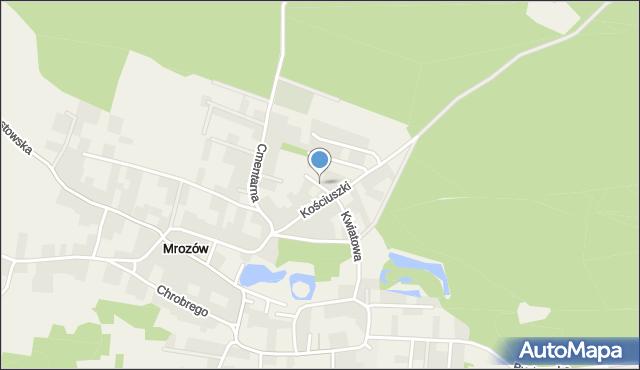 Mrozów, Chabrowa, mapa Mrozów