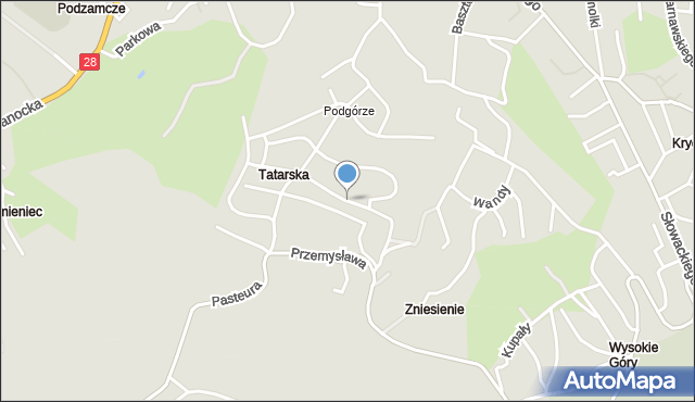 Przemyśl, Chocimska, mapa Przemyśla