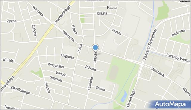 Radom, Chłodna, mapa Radomia