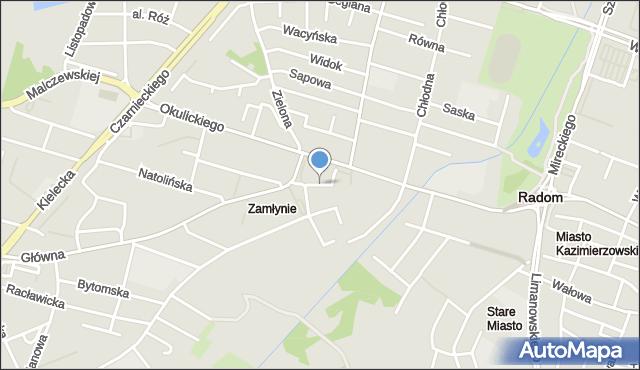 Radom, Chmielna, mapa Radomia