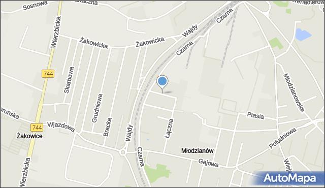 Radom, Chemiczna, mapa Radomia