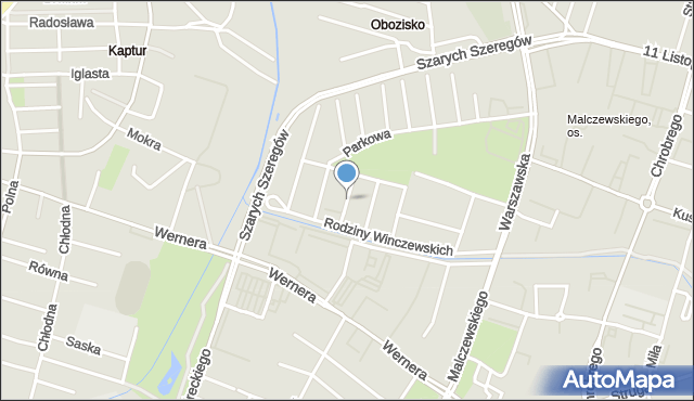 Radom, Chełmońskiego Józefa, mapa Radomia