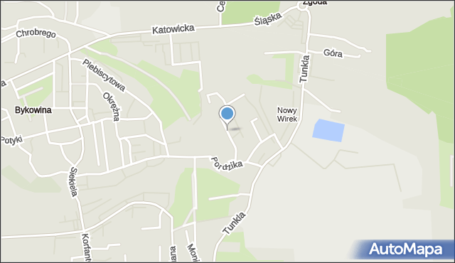 Ruda Śląska, Chełmońskiego Józefa, mapa Rudy Śląskiej