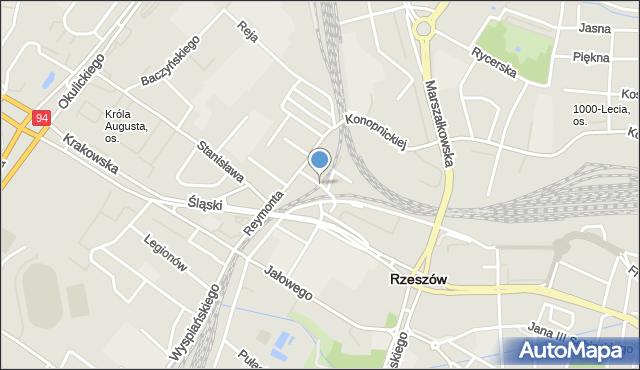 Rzeszów, Chłopickiego Józefa, gen., mapa Rzeszów