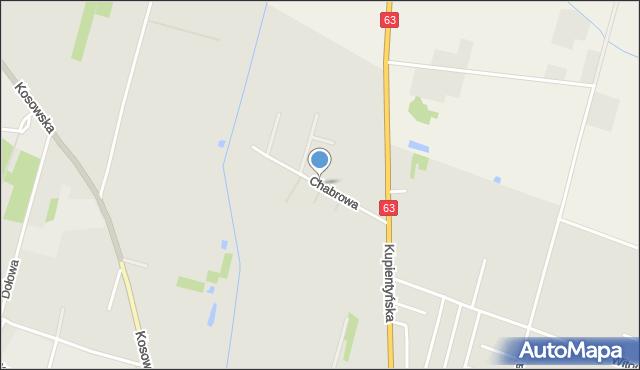 Sokołów Podlaski, Chabrowa, mapa Sokołów Podlaski