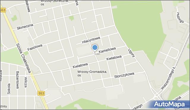 Toruń, Chabrowa, mapa Torunia