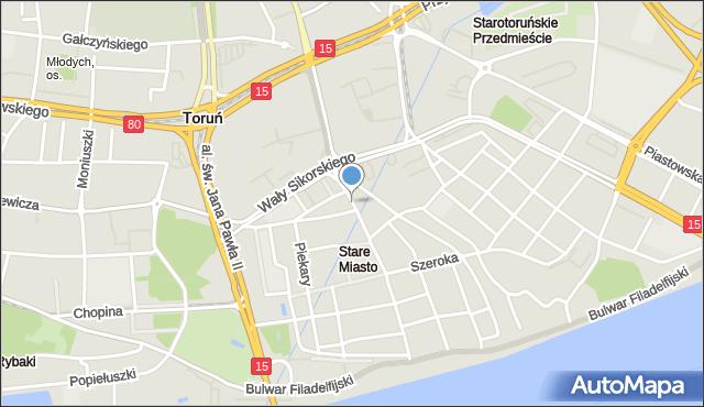 Toruń, Chełmińska, mapa Torunia
