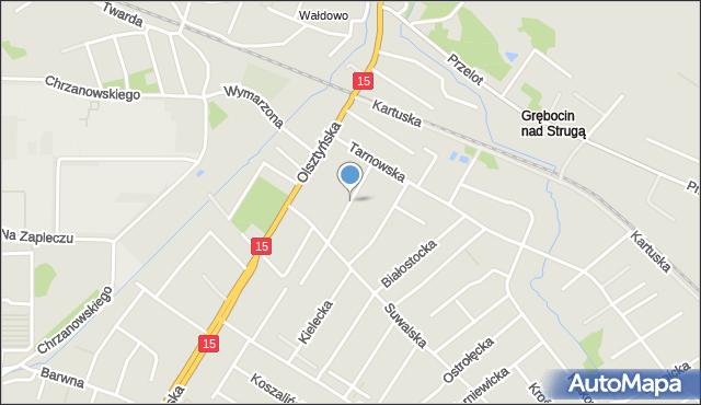 Toruń, Chełmska, mapa Torunia