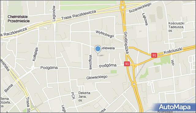Toruń, Chodkiewicza Jana Karola, hetm., mapa Torunia