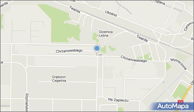 Toruń, Chrzanowskiego Józefa, mapa Torunia
