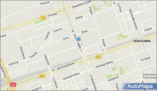 Warszawa, Chmielna, mapa Warszawy