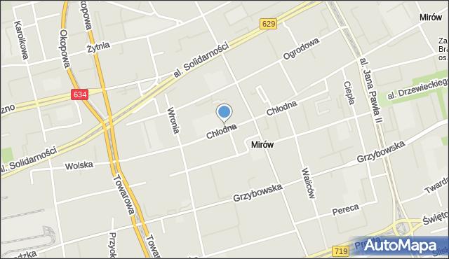 Warszawa, Chłodna, mapa Warszawy