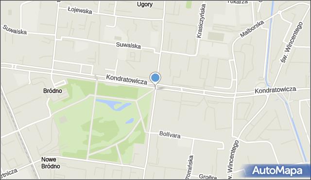 Warszawa, Chodecka, mapa Warszawy