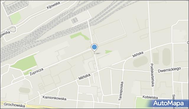 Warszawa, Chodakowska, mapa Warszawy